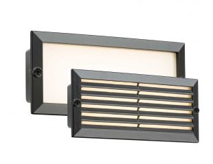 Knightsbridge BLED5BW 5 Watt LED Black IP54 Bricklight with Plain and Grill Cover