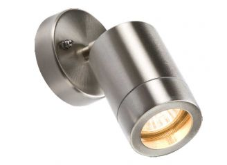 Knightsbridge WALL3L Lightweight IP65 Stainless Steel Adjustable Wall Light