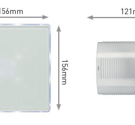 Knightsbridge EX003T White LED Backlit Extractor Fan Timer