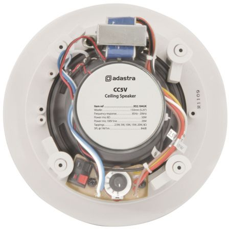 Adastra CC5V 2 Way 100V Ceiling Speaker with Control 5.25 Inch