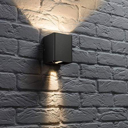 Knightsbridge WAD12BK 6W LED Adjustable Up Down Wall Light Black