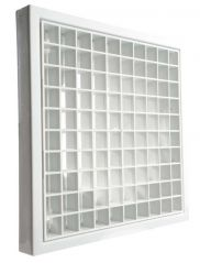 """Manrose 1145 Fixed Egg Crate Grill White 4"""" 100mm"""