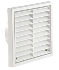 """Manrose 1152 Fixed Louvre Grill White 4"""" 100mm"""