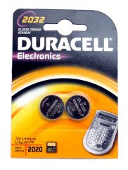2032 Electronic Coin Cell Batteries - 2 Pack