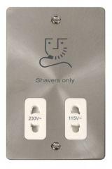 Scolmore Click Define FPBS100WH 115/230V Shaver Socket Outlet - White