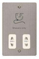 Scolmore Click Define FPSS100WH 115/230V Shaver Socket Outlet - White