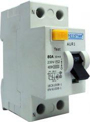 Pecstar AUR1 80A DP 30mA 2 Pole RCD
