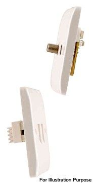 Scolmore Click Mode CMA159 Twin Isolated Coaxial Plate