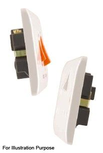 Scolmore Click Mode CMA042 20A DP Switch With Neon Water Heater