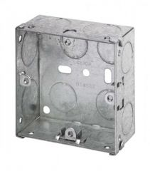 Click Scolmore WA095 1 Gang 35mm Deep Galvanised Steel Box