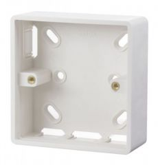 Scolmore Click Mode CMA230 1 Gang 29mm Deep PVC Pattress Box - Trunking