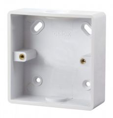 Scolmore Click Mode CMA240 1 Gang 29mm Deep PVC Pattress Box - Conduit