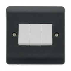 CMA013AG 10AX 3 Gang 2 Way Switch Plate