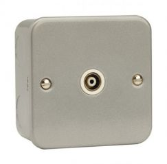 CL158 1 Gang Isolated Coaxial Socket Outlet
