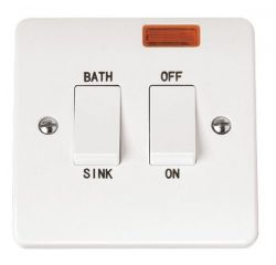 Scolmore Click Mode CMA024 20A DP Sink Bath Switch With Neon