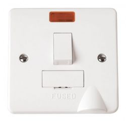 Scolmore Click Mode CMA052 13A Fused Connection Unit DP Switched With Neon & Flex Outlet