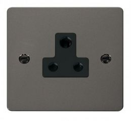 Scolmore Click Define FPBN038BK 5A Round Pin Socket Outlet