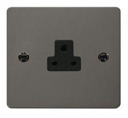 Scolmore Click Define FPBN039BK 2A Round Pin Socket Outlet