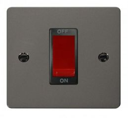 Scolmore Click Define FPBN200BK 1 Gang 45A DP Switch