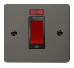 Scolmore Click Define FPBN201BK 1 Gang 45A DP Switch + Neon