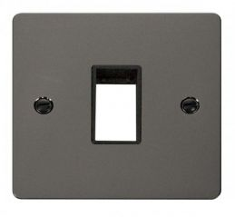 Scolmore Click Define FPBN401BK 1 Gang Plate Single Switch Aperture