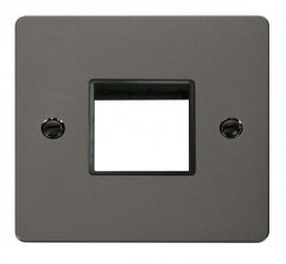Scolmore Click Define FPBN402BK 1 Gang Plate Twin Switch Aperture