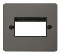 Scolmore Click Define FPBN403BK 1 Gang Plate Triple Switch Aperture