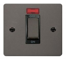 Scolmore Click Define FPBN501BK 1 Gang Ingot 45A DP Switch + Neon