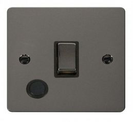 Scolmore Click Define FPBN522BK Ingot 20A 1 Gang DP Switch + Flex Outlet