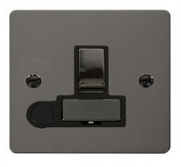 Scolmore Click Define FPBN551BK Ingot 13A Switched Connection Unit + Flex Outlet