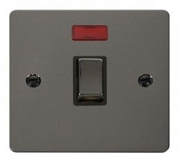 Scolmore Click Define FPBN723BK Ingot 20A 1 Gang DP Switch + Neon