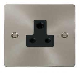 Scolmore Click Define FPBS038BK 5A Round Pin Socket Outlet - Black