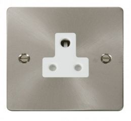 Scolmore Click Define FPBS038WH 5A Round Pin Socket Outlet - White