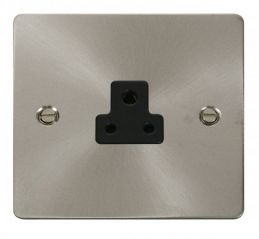 Scolmore Click Define FPBS039BK 2A Round Pin Socket Outlet - Black