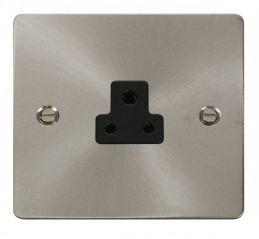 Scolmore Click Define FPBS039BK 2A Round Pin Socket Outlet - Black