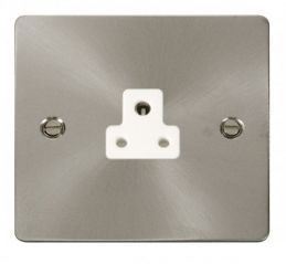 Scolmore Click Define FPBS039WH 2A Round Pin Socket Outlet - White