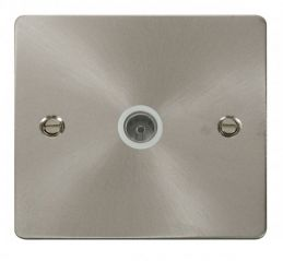 Scolmore Click Define FPBS065WH 1 Gang Coaxial Socket - White