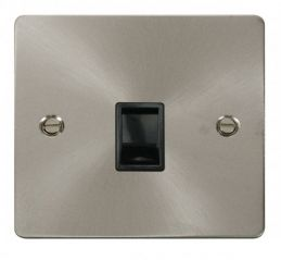 Scolmore Click Define FPBS115BK Single RJ11 Socket (Ireland/USA) - Black