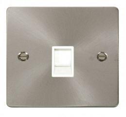 Scolmore Click Define FPBS115WH Single RJ11 Socket (Ireland/USA) - White