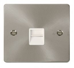 Scolmore Click Define FPBS125WH Single Telephone Socket Secondary - White
