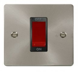 Scolmore Click Define FPBS200BK 1 Gang 45A DP Switch - Black