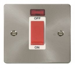 Scolmore Click Define FPBS201WH 1 Gang 45A DP Switch + Neon - White