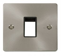 Scolmore Click Define FPBS401BK 1 Gang Plate Single Switch Aperture - Black