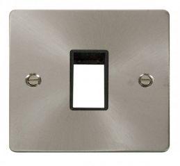 Scolmore Click Define FPBS401BK 1 Gang Plate Single Switch Aperture - Black