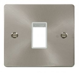 Scolmore Click Define FPBS401WH 1 Gang Plate Single Switch Aperture - White