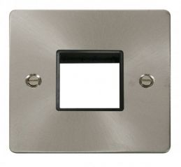 Scolmore Click Define FPBS402BK 1 Gang Plate Twin Switch Aperture - Black