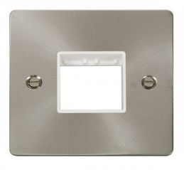 Scolmore Click Define FPBS402WH 1 Gang Plate Twin Switch Aperture - White