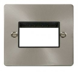 Scolmore Click Define FPBS403BK 1 Gang Plate Triple Switch Aperture - Black