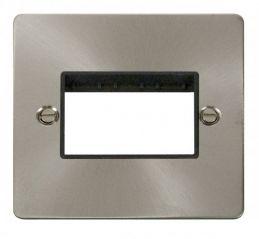Scolmore Click Define FPBS403BK 1 Gang Plate Triple Switch Aperture - Black
