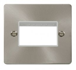 Scolmore Click Define FPBS403WH 1 Gang Plate Triple Switch Aperture - White